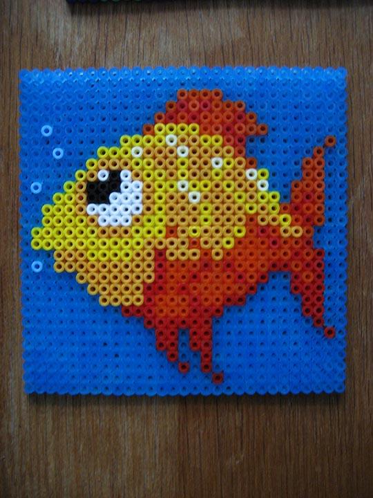 hama beads – fish