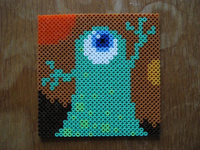 hama beads – green monster