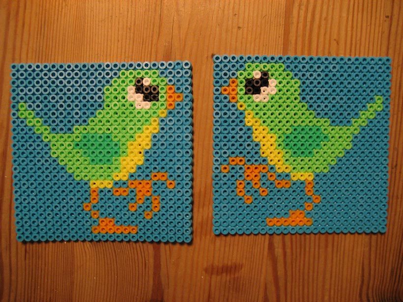 hama beads – two birds